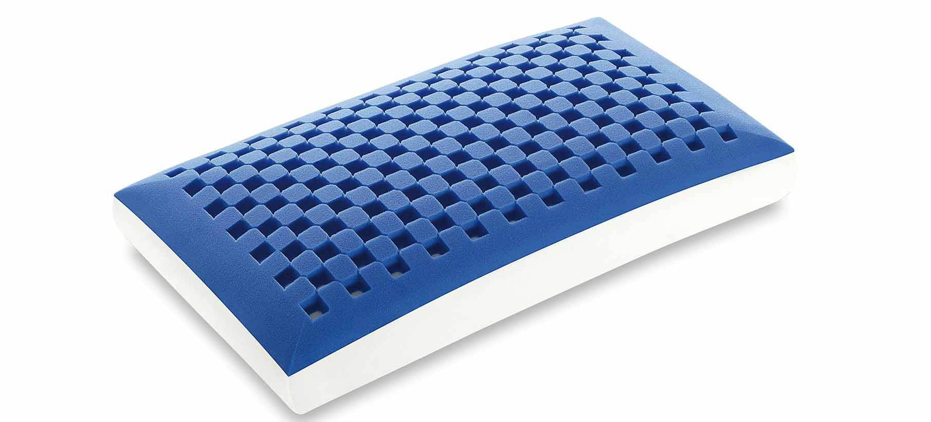 Guanciali memory blue maxi saponetta