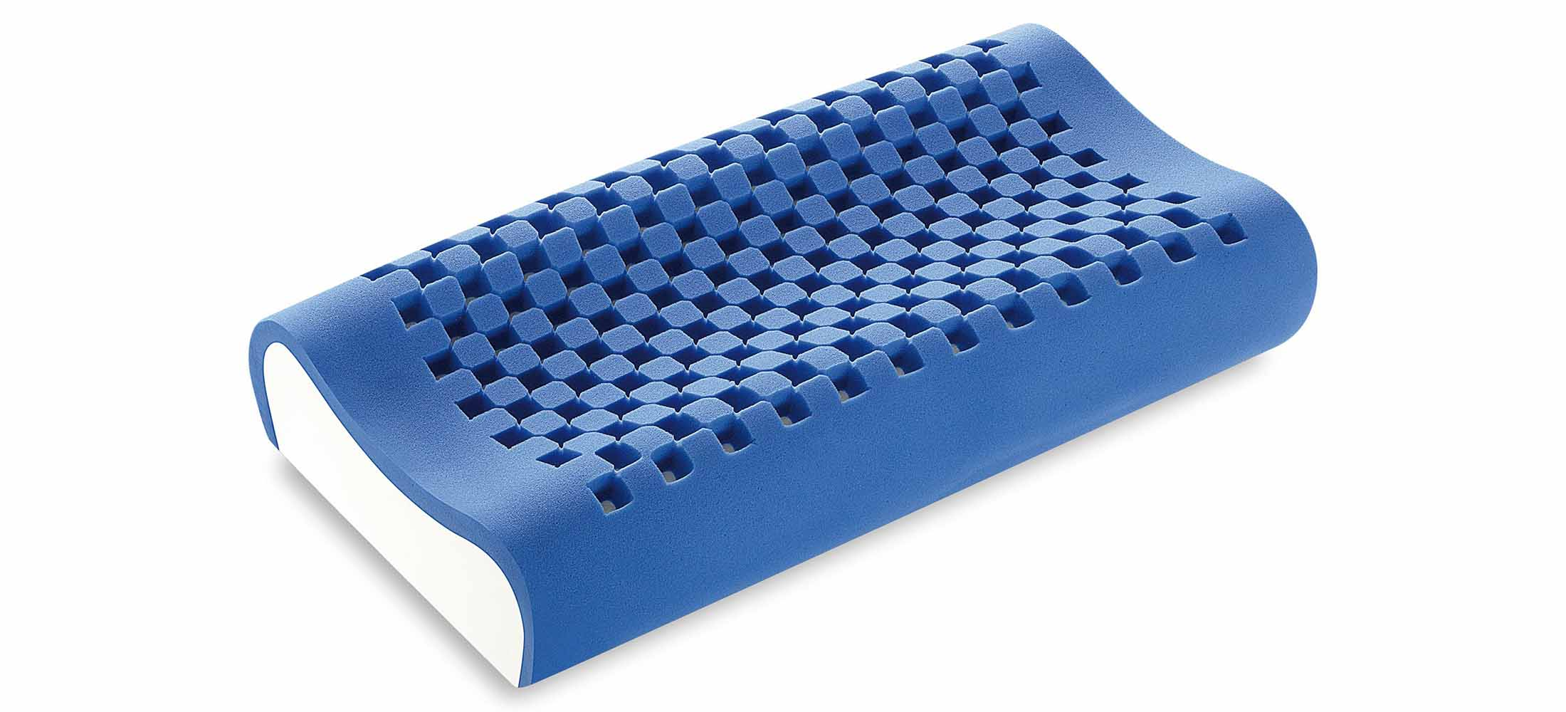 Cuscino memory blue maxi cervicale